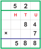Multiplication with carrying over