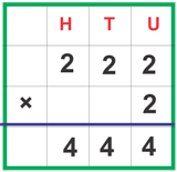 Multiplication without carrying over